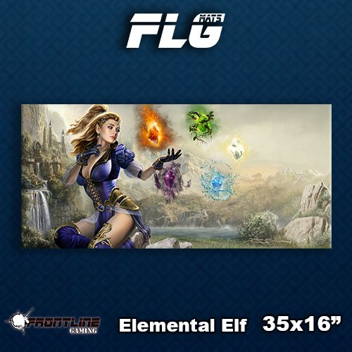 Frontline Gaming FLG Mats: Elemental Elf Desk Mat