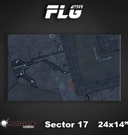 "Frontline-Gaming FLG Mats: Sector 17 24"" x 14"""