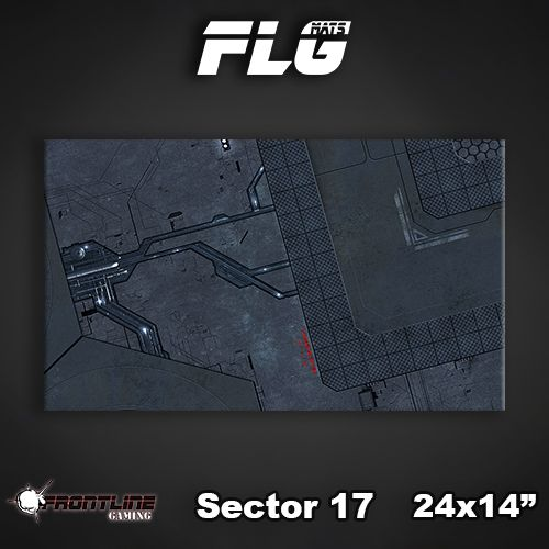 "Frontline Gaming FLG Mats: Sector 17 24"" x 14"""