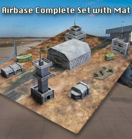 Frontline Gaming ITC Terrain Series: AirBase Complete Set W/ Mat