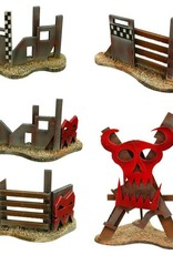 Frontline Gaming ITC Terrain Series: Orc Snow Village Complete Set With Mat