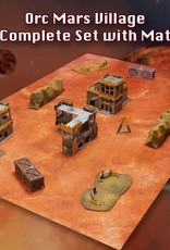 Frontline Gaming ITC Terrain Series: Orc Mars Village Complete Set With Mat