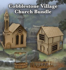 Frontline-Gaming ITC Terrain Series: Cobblestone Village Church Bundle