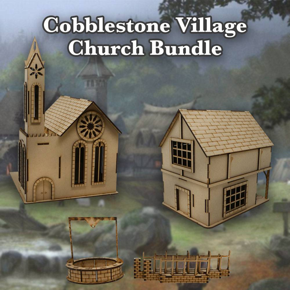 Frontline Gaming ITC Terrain Series: Cobblestone Village Church Bundle