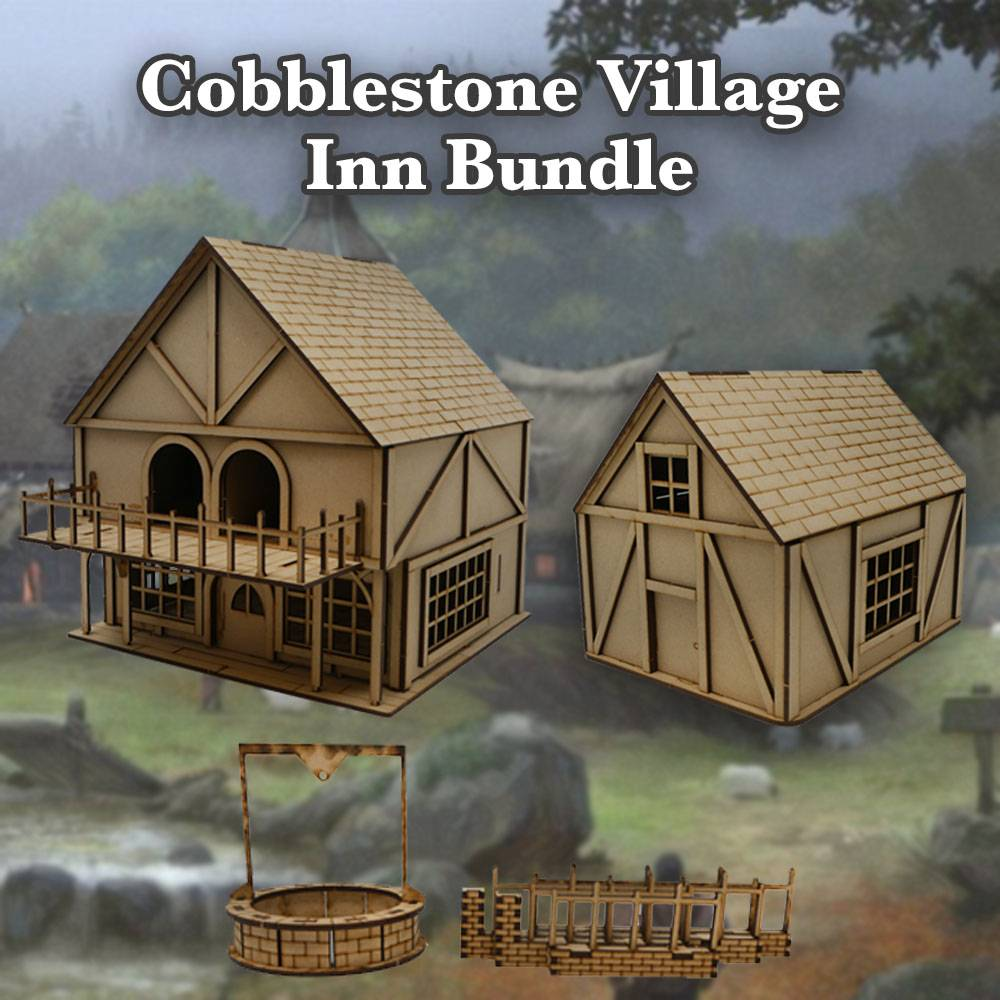 Frontline Gaming ITC Terrain Series: Cobblestone Village Inn Bundle