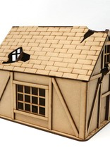 Frontline Gaming ITC Terrain Series: War-torn Cobblestone Village House