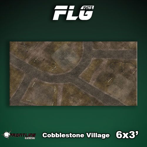 Frontline Gaming FLG Mats: Cobblestone Village 6x3'