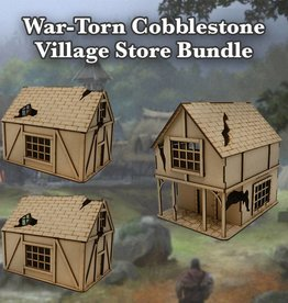 Frontline Gaming ITC Terrain Series: War-torn Cobblestone Village Store Bundle