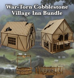 Frontline Gaming ITC Terrain Series: War-torn Cobblestone Village Inn Bundle
