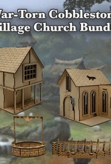 Frontline Gaming ITC Terrain Series: War-torn Cobblestone Village Church Bundle