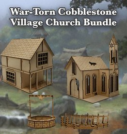 Frontline-Gaming ITC Terrain Series: War-torn Cobblestone Village Church Bundle
