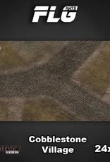 "Frontline-Gaming FLG Mats: Cobblestone Village 24"" x 14"""