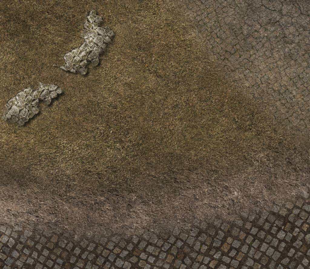 Frontline Gaming FLG Mats: Cobblestone Village 3x3'