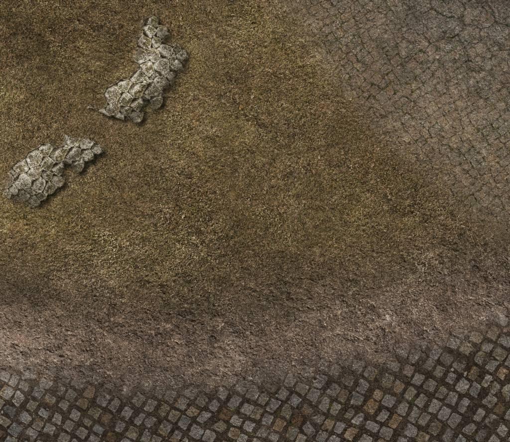 Frontline Gaming FLG Mats: Cobblestone Village 4x4'