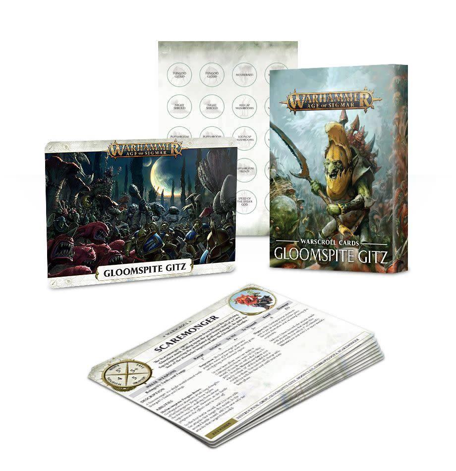 Games Workshop Warscroll Cards: Gloomspite Gitz
