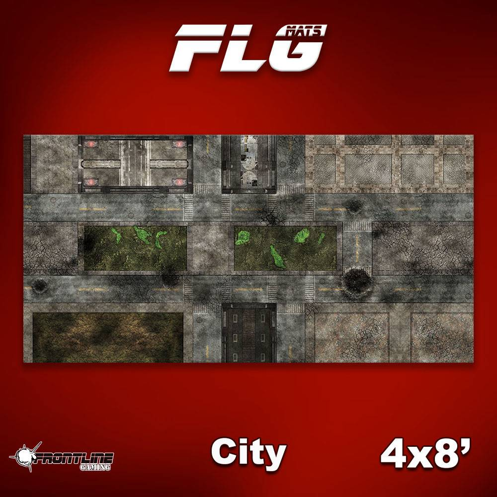 Frontline-Gaming FLG Mats: City 1 4x8'