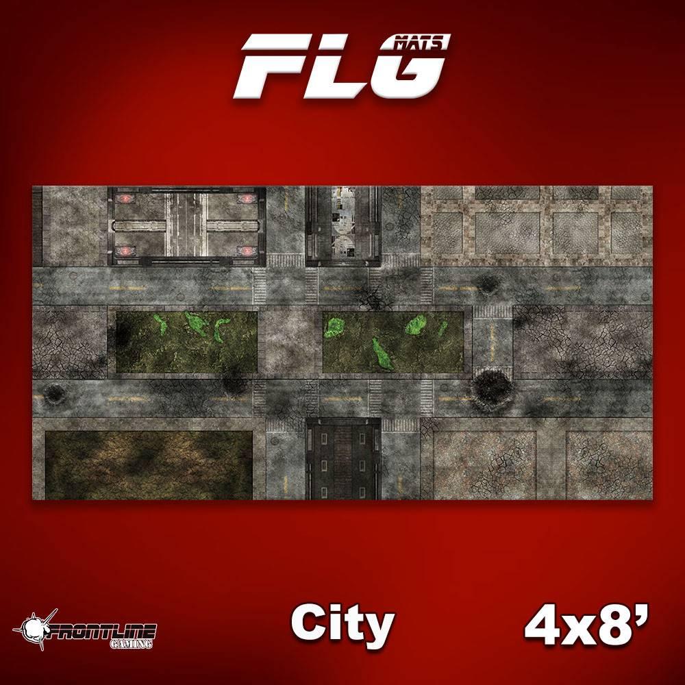 Frontline Gaming FLG Mats: City 1 8x4'