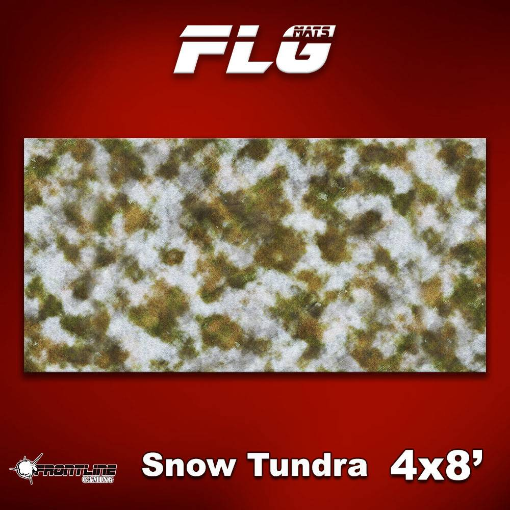 Frontline Gaming FLG Mats: Snow Covered Tundra 8x4'