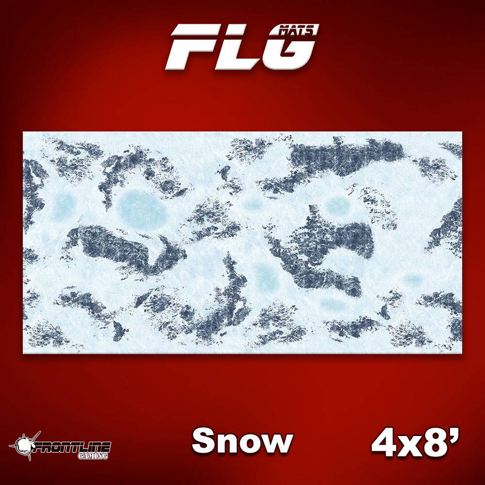 Frontline Gaming FLG Mats: Snow 1 4x8'