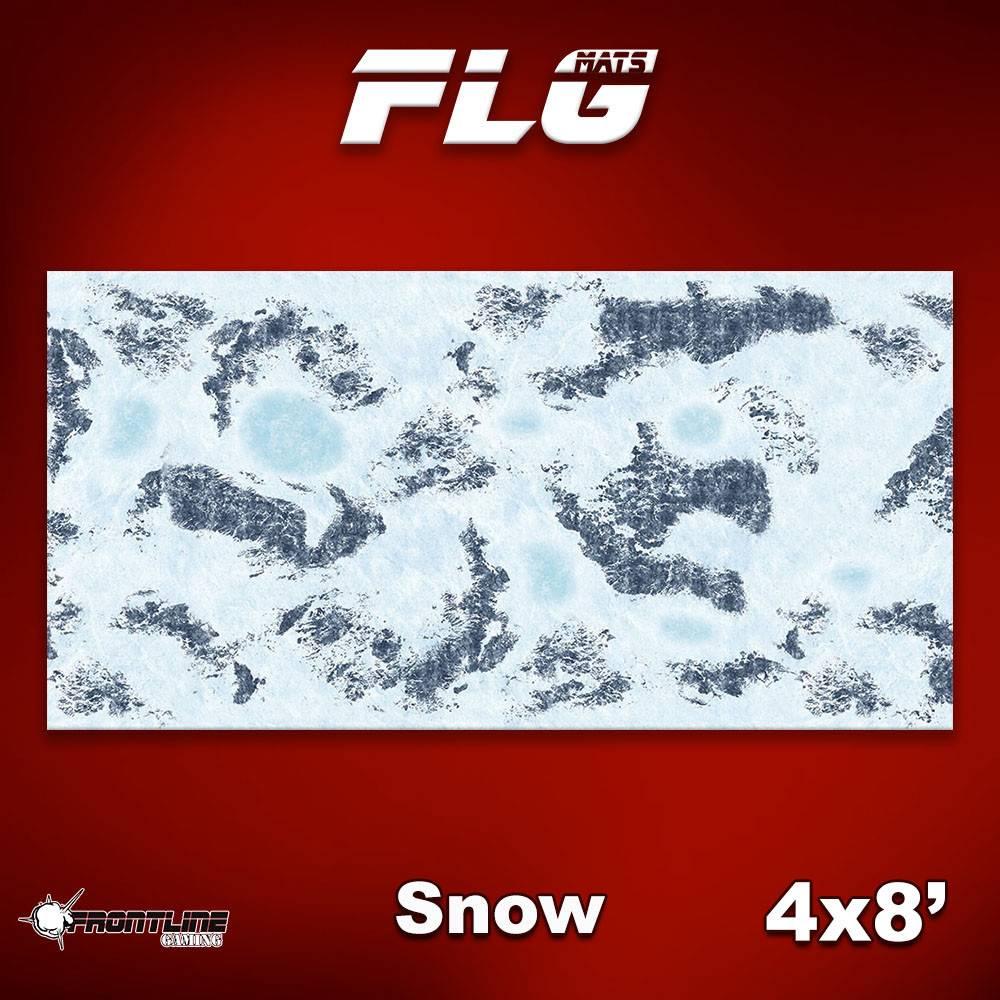 Frontline Gaming FLG Mats: Snow 1 8x4'