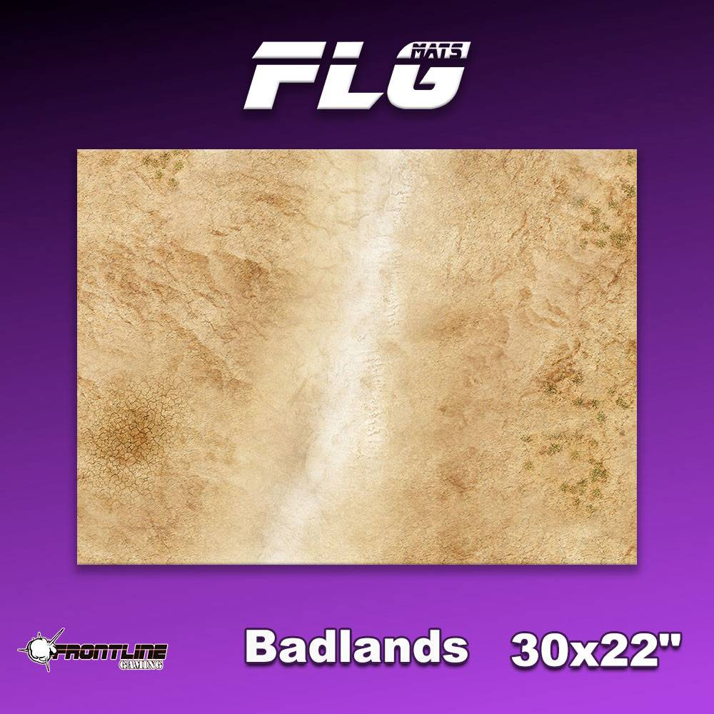 "Frontline Gaming FLG Mats: Badlands 1 30"" x 22"""