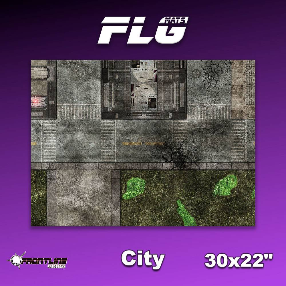 "Frontline Gaming FLG Mats: City 1 30"" x 22"""