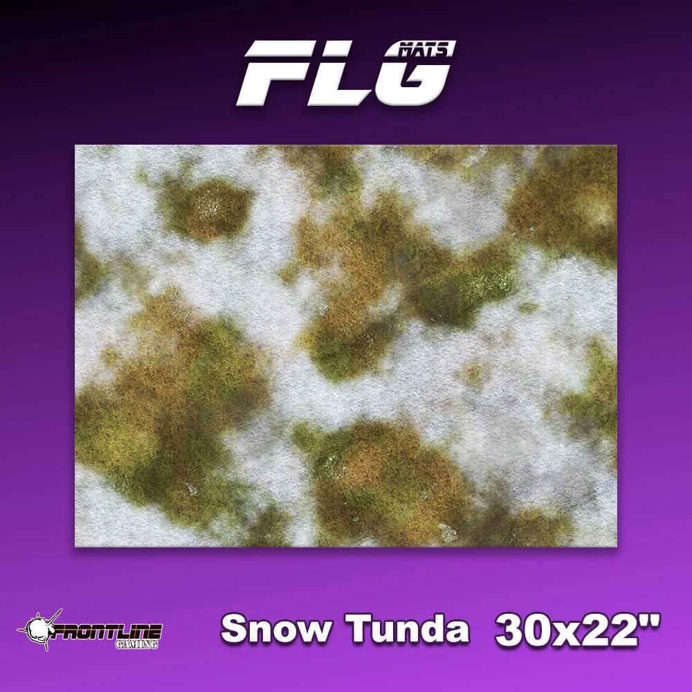 "Frontline-Gaming FLG Mats: Snow Tundra 1 30"" x 22"""