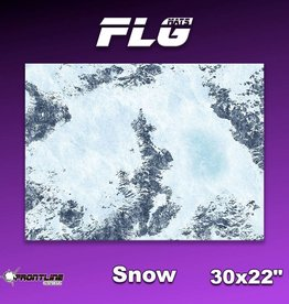 "Frontline Gaming FLG Mats: Snow 1 30"" x 22"""