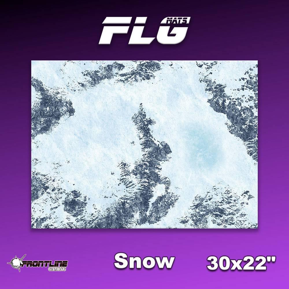 "Frontline Gaming FLG Mats: Snow 1 30"" x 22"""