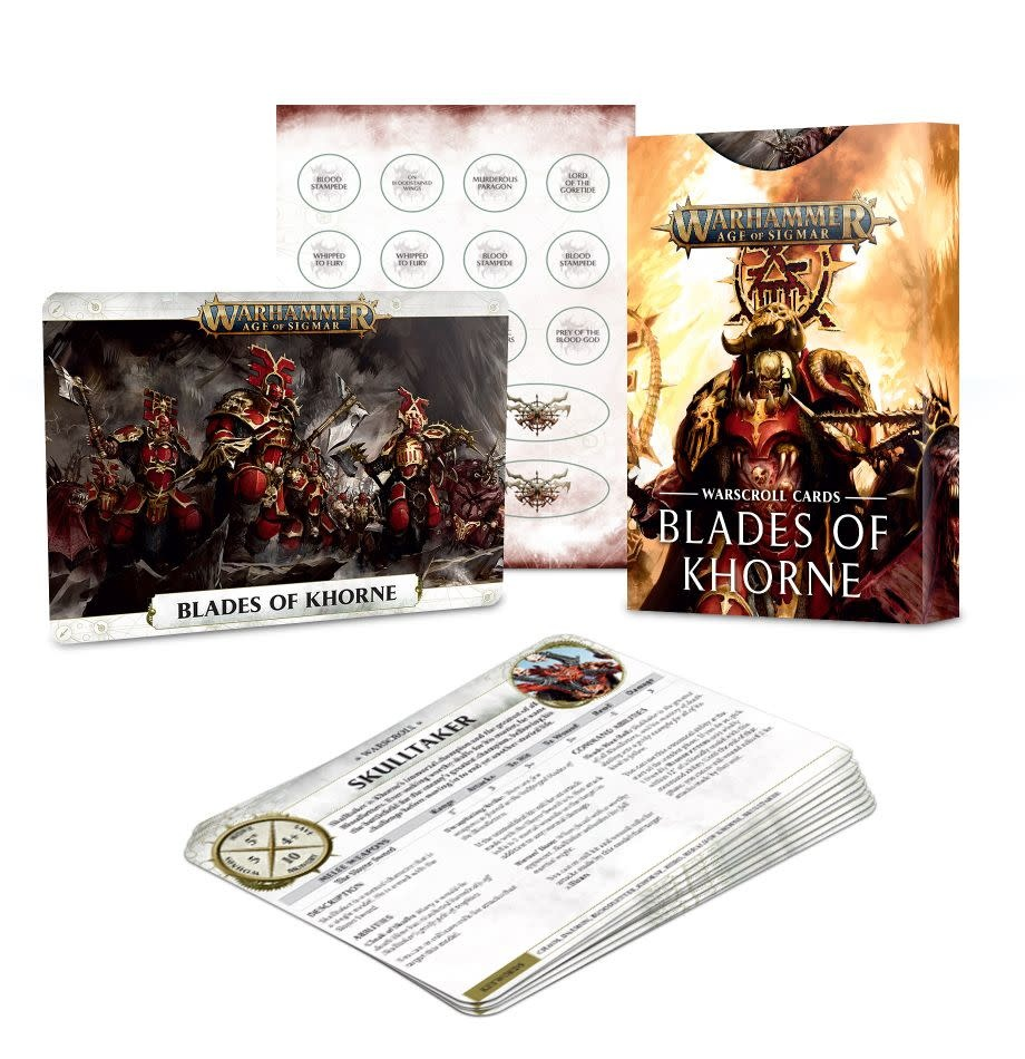 Games Workshop Warscroll Cards: Blades of Khorne