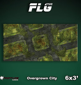 Frontline Gaming FLG Mats: Overgrown City 6x3'