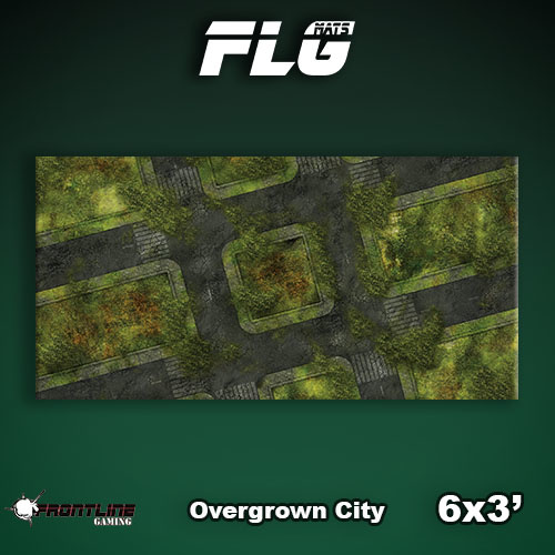 Frontline-Gaming FLG Mats: Overgrown City 6x3'