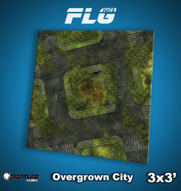 Frontline Gaming FLG Mats: Overgrown City 3x3'