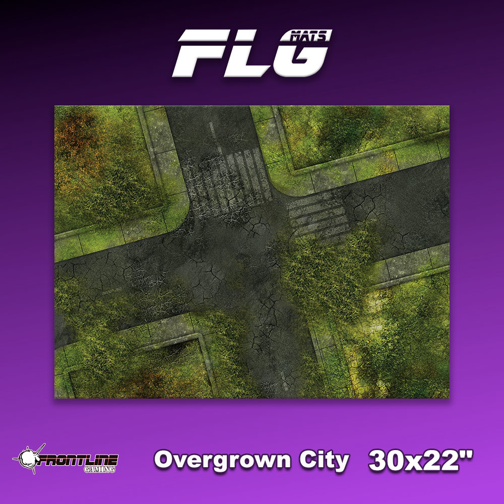 "Frontline Gaming FLG Mats: Overgrown City 30"" x 22"""