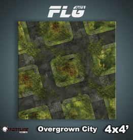 Frontline Gaming FLG Mats: Overgrown City 4'x4'