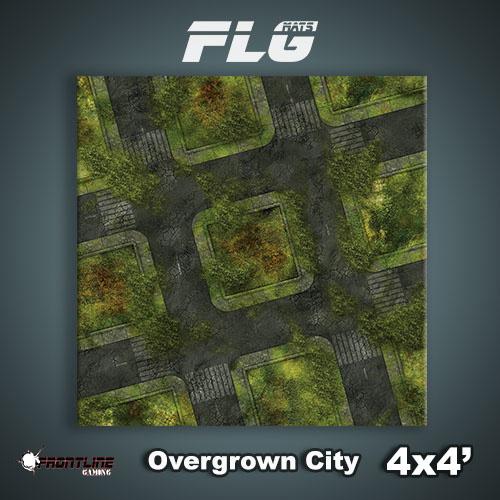 Frontline Gaming FLG Mats: Overgrown City 4'x4'