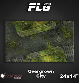 "Frontline Gaming FLG Mats: Overgrown City 24"" x 14"""