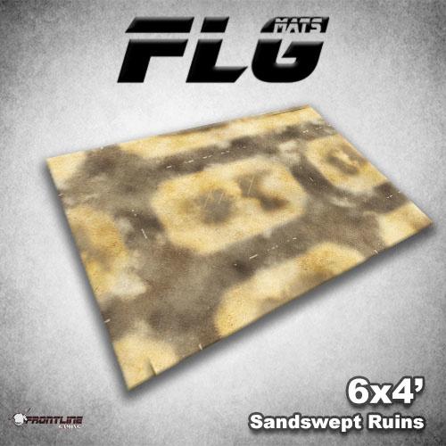 Frontline-Gaming FLG Mats: Sandswept Ruins 6x4'