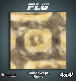 Frontline-Gaming FLG Mats: Sandswept Ruins 4x4'