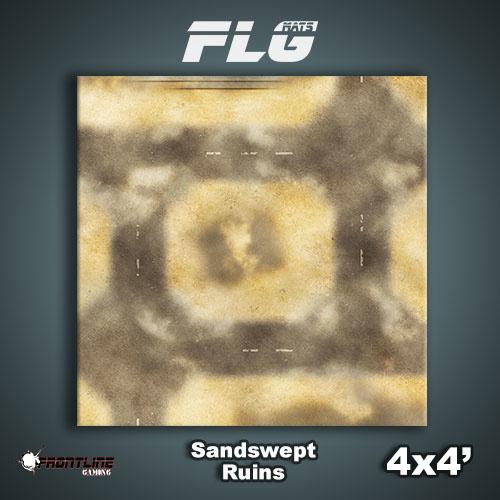 Frontline Gaming FLG Mats: Sandswept Ruins 4x4'