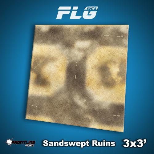 Frontline-Gaming FLG Mats: Sandswept Ruins 3x3'