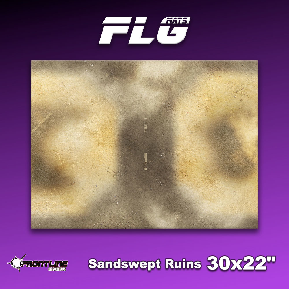 "Frontline-Gaming FLG Mats: Sandswept Ruins 30"" x 22"""