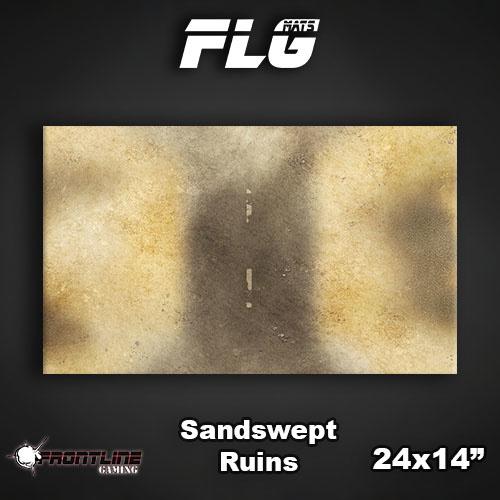 "Frontline-Gaming FLG Mats: Sandswept Ruins 24"" x 14"""