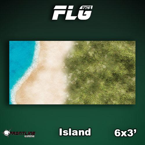 Frontline Gaming FLG Mats: Island 6x3'