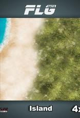 Frontline Gaming FLG Mats: Island 4x4'