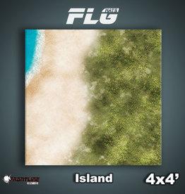 Frontline-Gaming FLG Mats: Island 4x4'