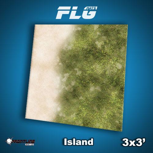 Frontline-Gaming FLG Mats: Island 3x3'