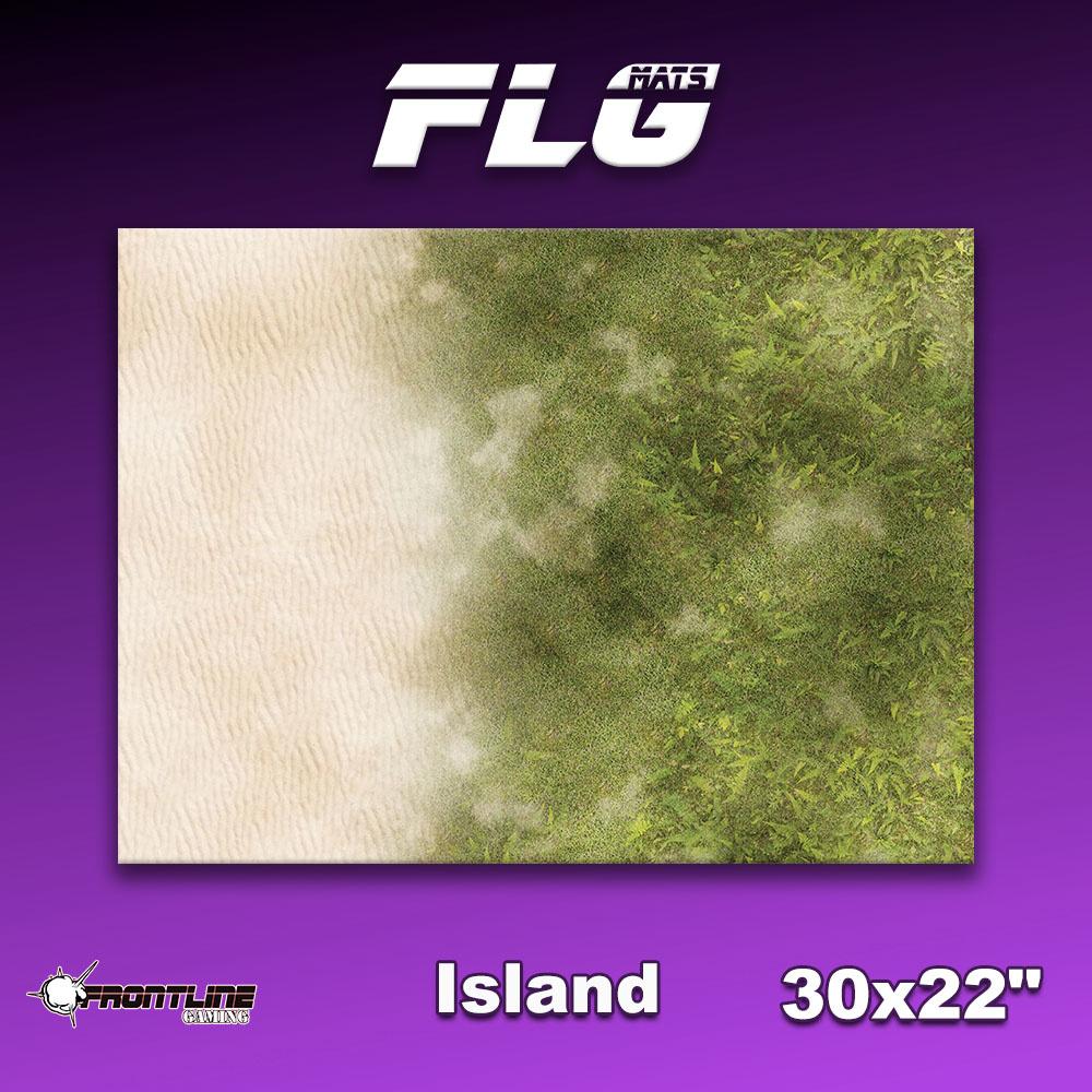 "Frontline Gaming FLG Mats: Island 30"" x 22"""