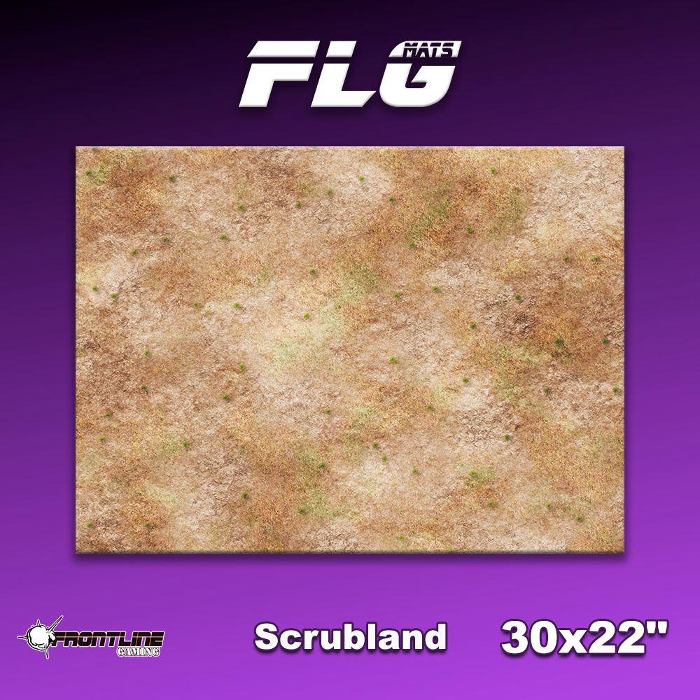 "Frontline-Gaming FLG Mats: Scrubland 30"" x 22"""