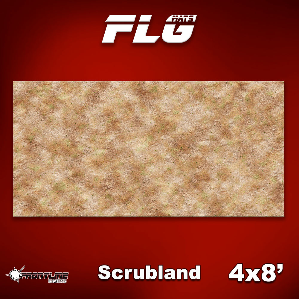 Frontline-Gaming FLG Mats: Scrubland 4x8'